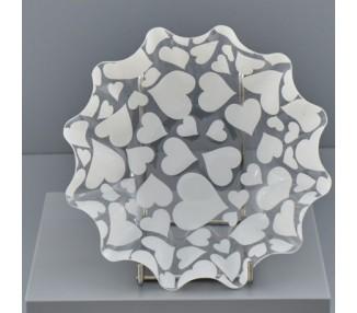 Cuori bianchi coppa onda tonda piccolo 22x22x6,5 (1/200)-2021