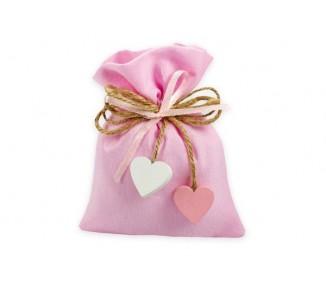 Sacchetto cotone rosa *50-10
