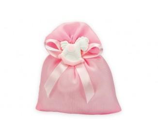Sacchetto organza c/tirante *50-10 rosa