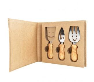 Wood set 3 pz.forc+colt+pal