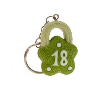 P/chiavi lucchetto 18° verde cm4 h.4 (12/432)