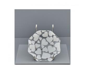 Cuori bianchi piatto onda mini 15,5x15,5x3 (1/400)