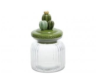 Barattolo porta spezie con cactus cm 8x15