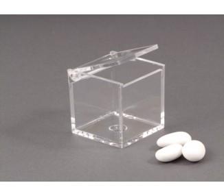 Scatolina plexiglass 5x5x5 trasparente