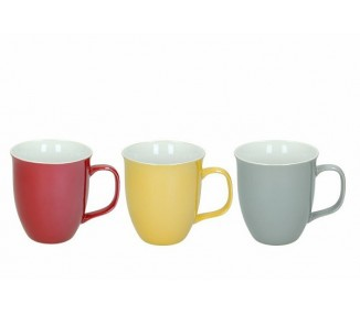 Tazza da latte linea dolce casa assortiti 3 colori