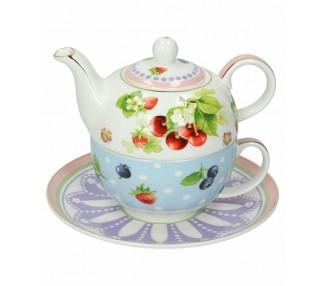 Teiera con tazza e piattino linea Royal