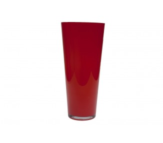 Demetro vaso conico cm 33 rosso
