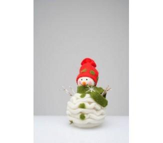 Pupazzo con sciarpa verde christmas