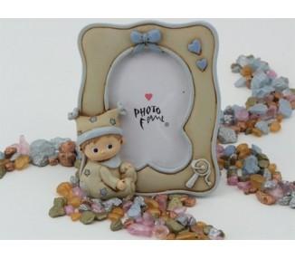 Portafoto bimbo in resina