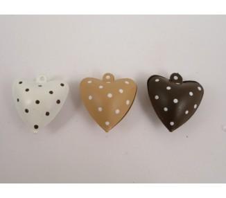 Campanelle cuore tortora 3 colori assortiti