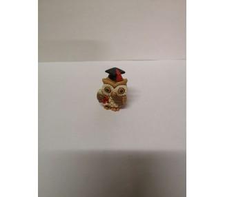 Gufo in resina 3x4x3,5 cm.