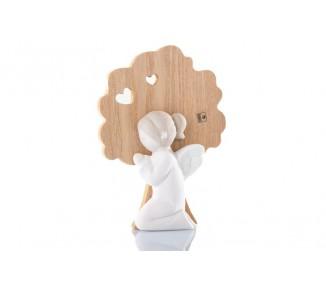 Bimba comunione gres e legno cm 14x10