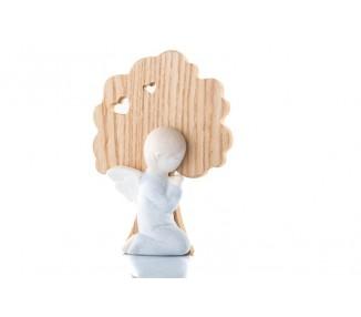 Bimbo comunione gres e legno cm 14x10