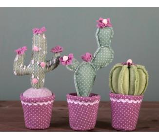 Pianta grassa in vaso rosa cm 12 x 8 x 23