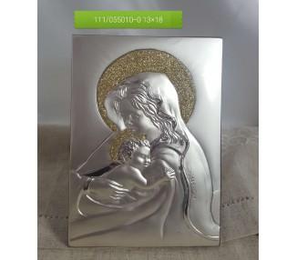 Madonna con bimbo oro in argento massiccio