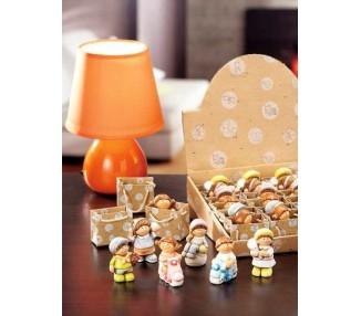 Decorazione ceramica  Bambini 6 colori assortiti  6x3x7
