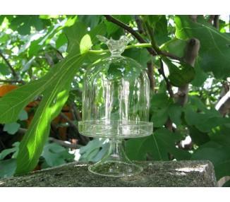 Alzatina vetro soffiato h,16